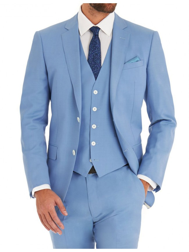 Light Blue Three Piece Suit