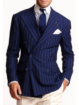 Men blue striped blazer