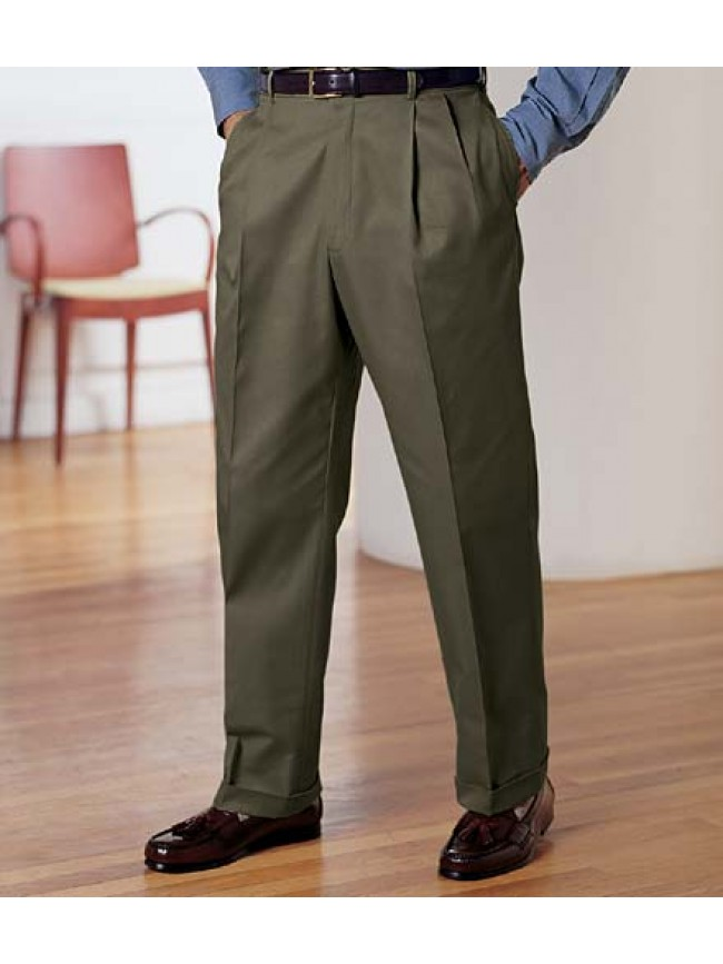 Full cut with 2 pleats front men's pant