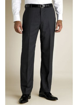 Flat front straight cut men's trouser