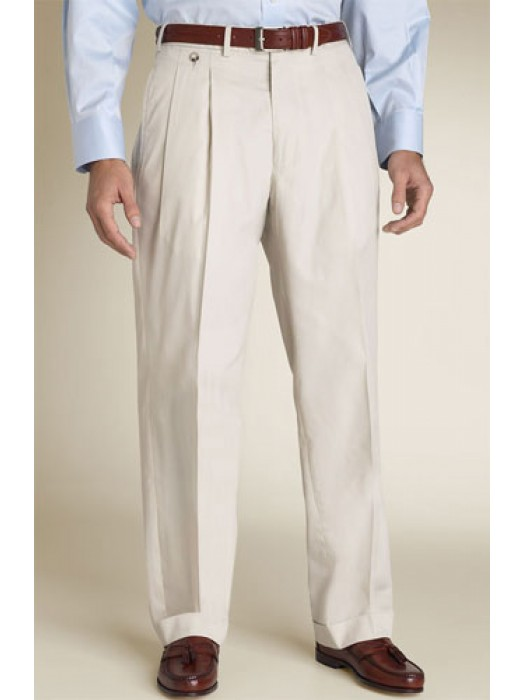 Men Double-reverse pleats dress pants for a comfortable fit| Mytailorstore