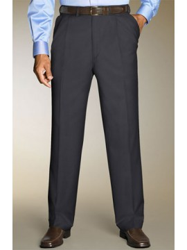 Tailored Fit two-pleat Grey trousers