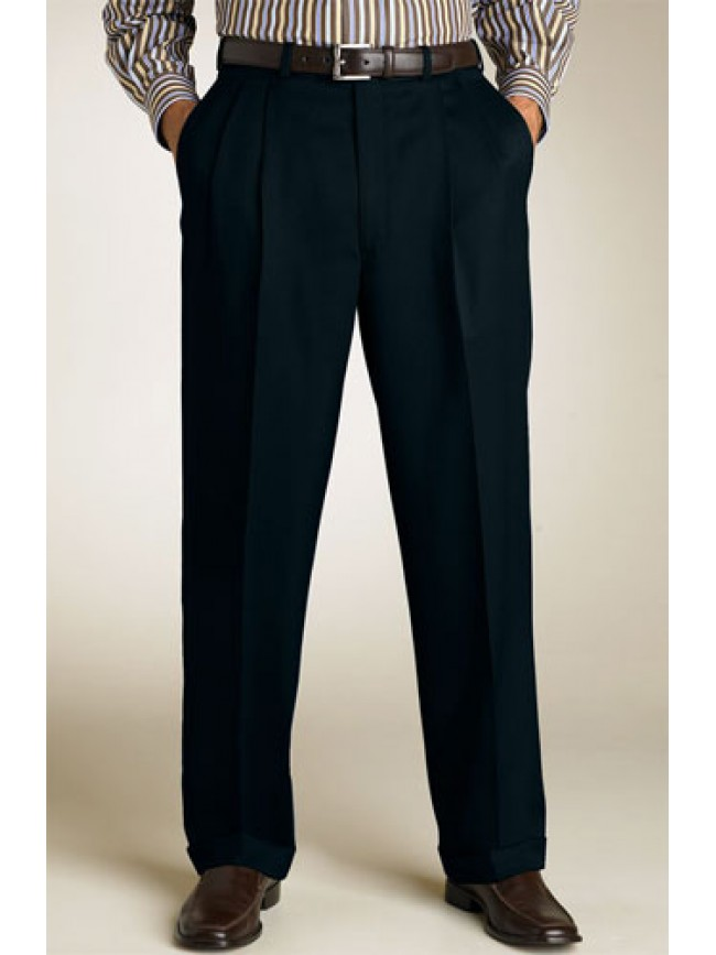 Tailored fit Pleated Men's Black trousers