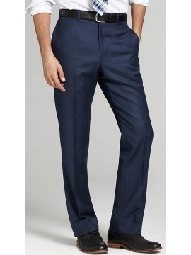 Slim fit Men's Semi Solid blue Pants