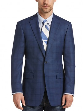 Blue Plaid Men Sports coat