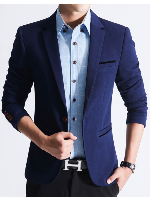 Single breasted one button slim fit men