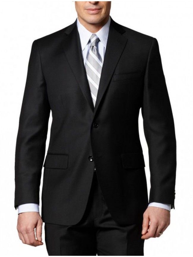 Classic black single breasted suit