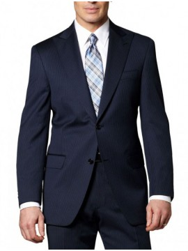 Single breasted Peak lapel striped suit