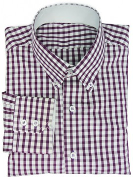 Cotton Check shirt with contrasting details