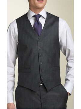 High Neck Six button men's waist coat