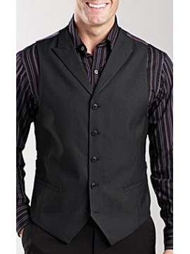 High neck peak lapel men waist coat
