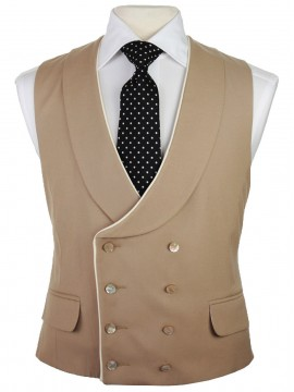 Double breasted waistcoat with piped detail